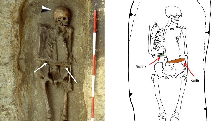 """""""Cyborg"""" z VI wieku. Znaleziono szkielet mężczyzny z nożem zamiast ręki /Journal of Anthropological Sciences /Materiały prasowe"""