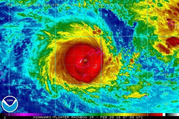 Cyklon Winston był najpotężniejszy w historii //NOAA/HANDOUT /PAP/EPA