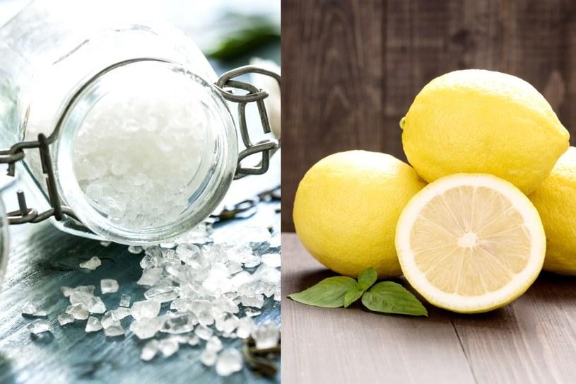 Cytryna i sol - doskonałe wybielacze /©123RF/PICSEL