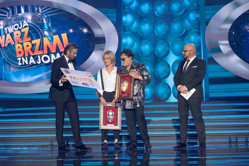 Czadoman odbiera nagrodę /M. Zawada /Polsat