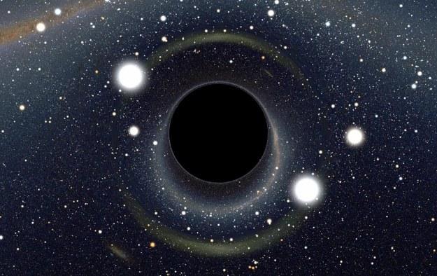 Czarna dziura - ilustracja /NASA