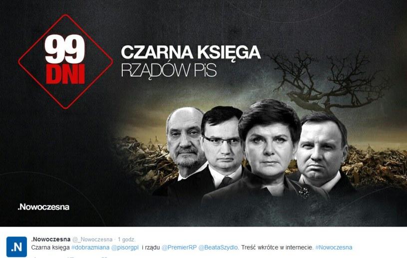 Czarna księga PiS /nowoczesna /Twitter