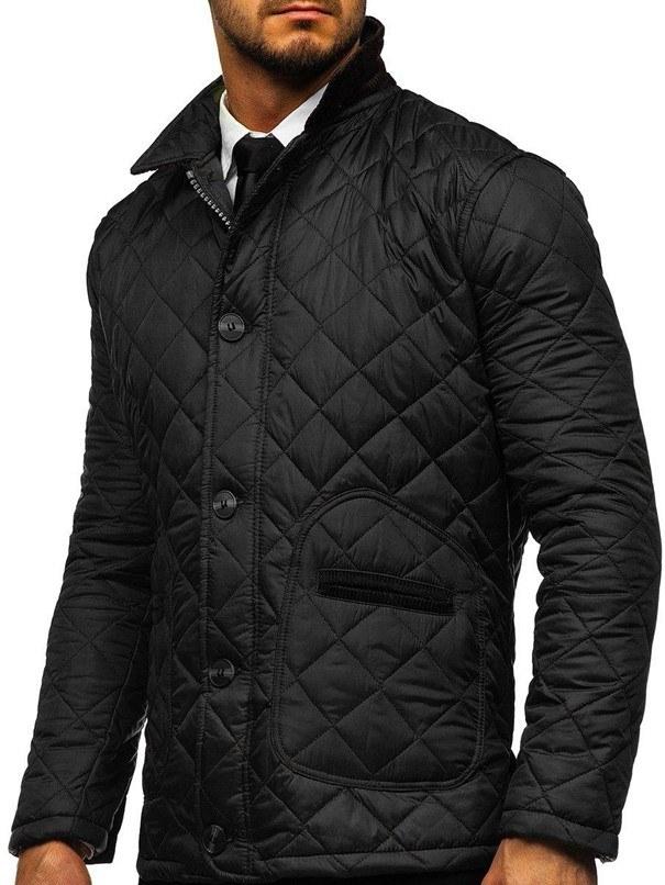 Czarna kurtka przejściowa husky /materiały promocyjne