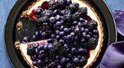Czarno-niebieska tarta sernikowa