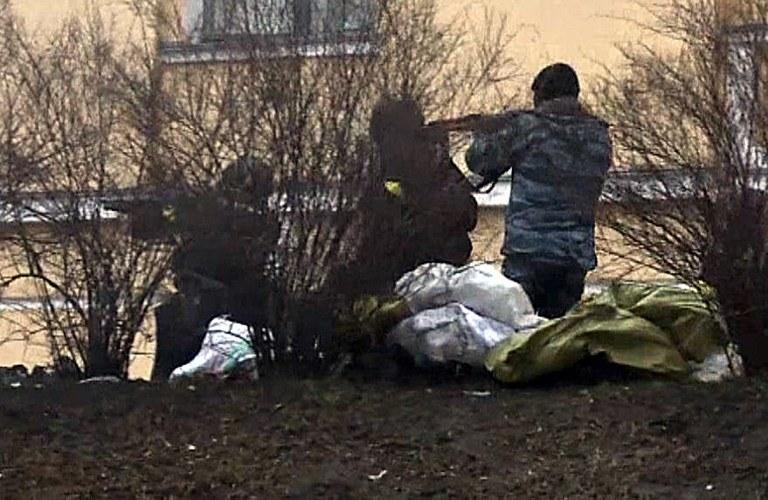 """""""Czarny czwartek"""" w Kijowie (20 lutego) /AFP"""