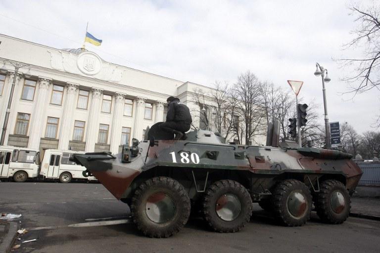 """""""Czarny czwartek"""" w Kijowie /AFP"""