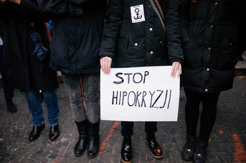 Czarny protest w Poznaniu, zdjęcie ilustracyjne /Jacek Trublajewicz /Reporter