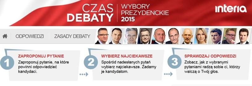 Czas Debaty to okazja do przepytania kandydatów na prezydenta /INTERIA.PL