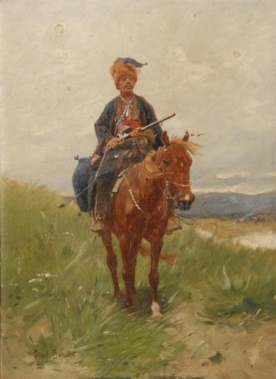 """""""Czaty"""", Józef Brandt. Obraz odzyskany w czerwcu 2012 r. /Ministerstwo Kultury i Dziedzictwa Narodowego"""