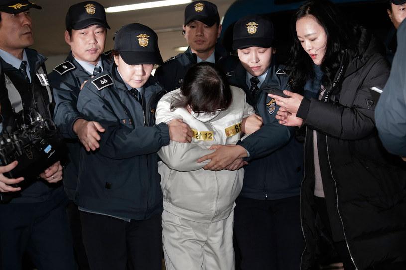 Cze Sun Sil została skazana na 3 lata więzienia /AHN Young-Joon / POOL / AFP /AFP