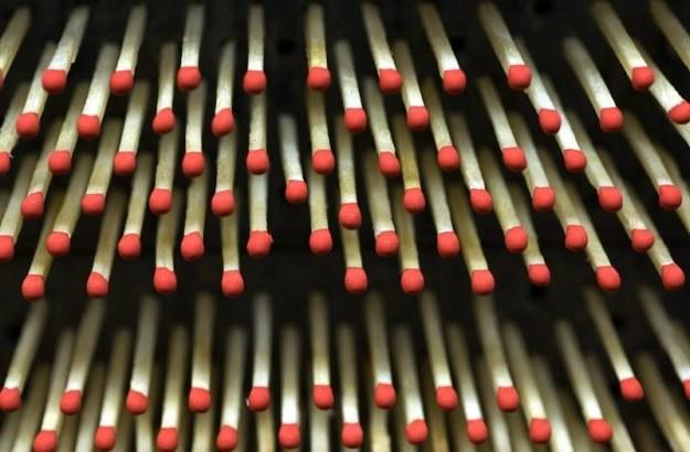 Czechowicka firma wytwarza rocznie około 27 miliardów zapałek /fot. Jacenty Dedek /Reporter