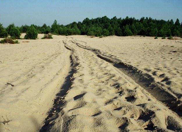 Czerwiec 2002 r. Pustynia stała się nieformalnym poligonem doświadczalnym dla miłośników motoryzacji /Odkrywca