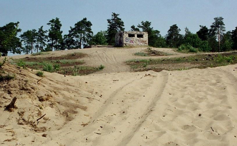 Czerwiec 2002 r. Ruiny punktu obserwacyjnego wojsk niemieckich na wzgórzu Dąbrówka na północnym skraju pustyni niedaleko Chechła /Odkrywca /Odkrywca