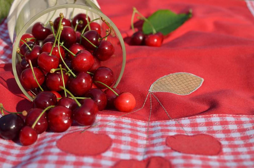 Czerwony obrus i poduszki to\dobry pomysł na przyjęcie w ogrodzie /123RF/PICSEL