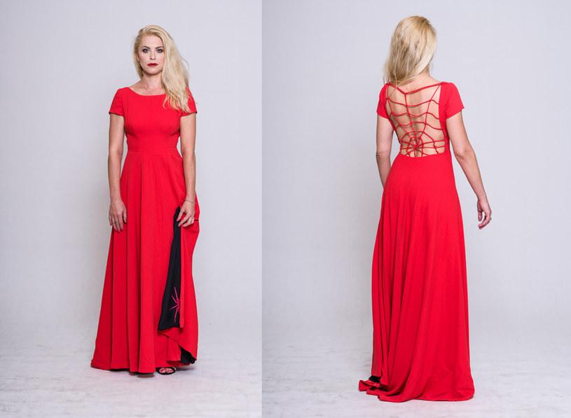 Czerwony pająk - sukienka Katarzyny Bondy, fot. Michał Jaworski /materiały prasowe
