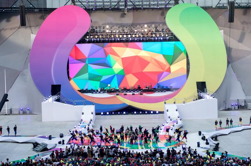 Część artystyczna ceremonii otwarcia Światowych Igrzysk Sportów Nieolimpijskich - The World Games we Wrocławiu /Maciej Kulczyński /PAP