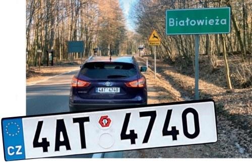 czeska tablica rejestracyjna /Motor