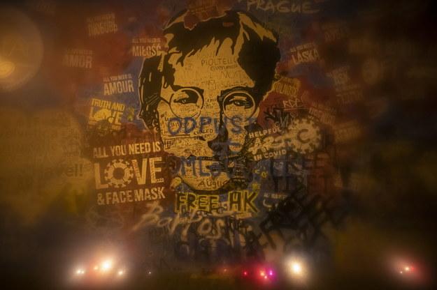 Czeski mural pamięci Johna Lennona /Martin Divisek /PAP/EPA