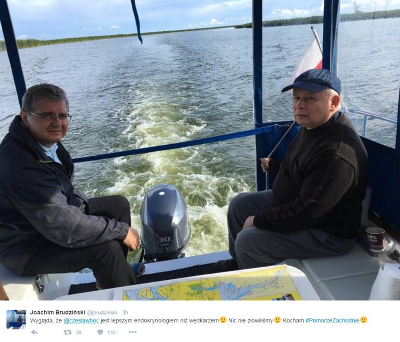 Czesław Hoc i Jarosław Kaczyński /Twitter
