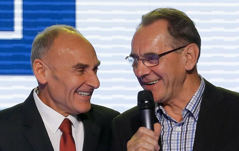 Czesław Lang i Ryszard Szurkowski /Fot. Paweł Supernak /PAP