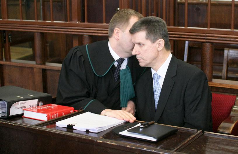 Czesław Małkowski w sądzie niedługo po wybuchu seksafery, zdjęcie z 2008 roku /Anatol Chomicz /FORUM