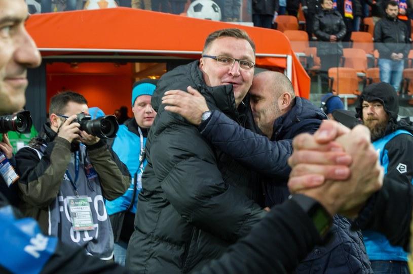 Czesław Michniewicz (z lewej) i Michał Probierz /Tadeusz Koniarz /Reporter