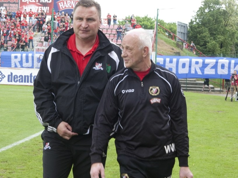 Czesław Michniewicz (z lewej) /Grzegorz Michałowski /PAP