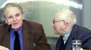 Czesław Miłosz oraz Tadeusz Różewicz, podczas Międzynarodowych Targów Książki we Frankfurcie nad Menem w 2000 r.