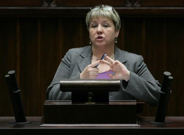 Czesława Ostrowska, wiceminister pracy. Fot. Stefan Maszewski /Reporter