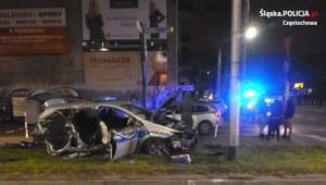 Częstochowa: Kierowca, jadąc na czerwonym świetle, staranował radiowóz