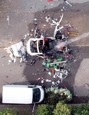 Częstochowa: Wybuch samochodu. Dwie osoby nie żyją