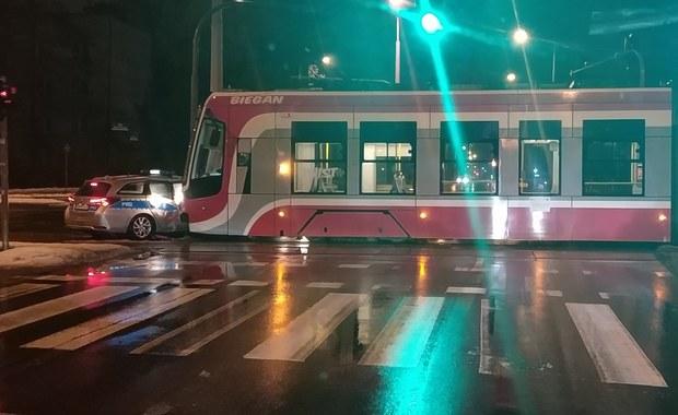 Częstochowa: Zderzenie tramwaju i radiowozu