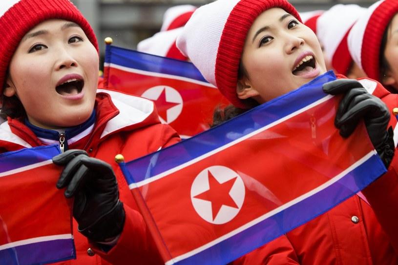 Członkinie delegacji Korei Północnej na igrzyskach w Pjongczangu /PAP/EPA