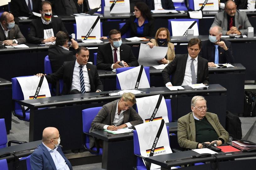 Członkowie AfD podczas obrad w Bundestagu /TOBIAS SCHWARZ / AFP /AFP