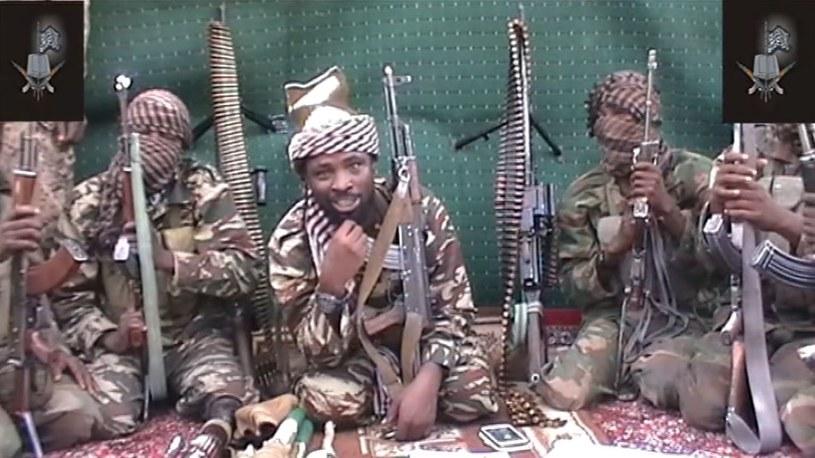 Członkowie Boko Haram. Kadr z jednego z filmów zamieszczonych przez nich w internecie /AFP