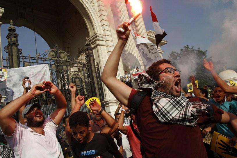Członkowie Bractwa Muzułmańskiego podczas wrześniowych protestów /AFP
