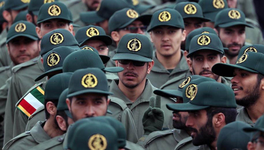 Członkowie Gwardii Rewolucyjnej /Abedin Taherkenareh   /PAP/EPA