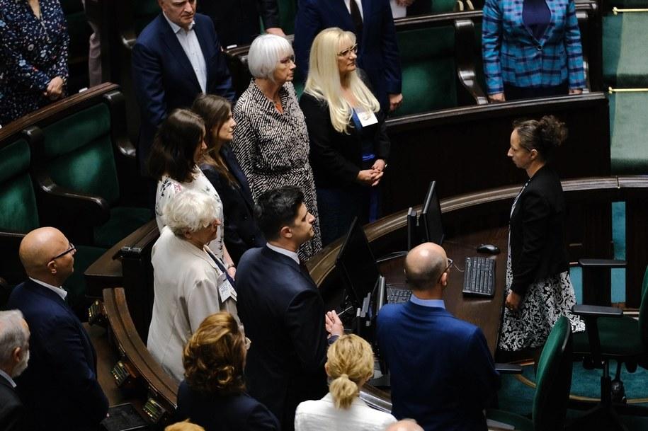 Członkowie komisji ds. pedofilii podczas ślubowania w Sejmie, 24 lipca 2020 /Mateusz Marek /PAP