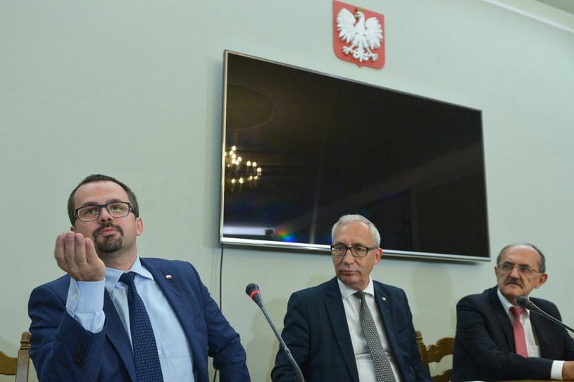 Członkowie komisji śledczej ds. VAT / Marcin Obara  /PAP