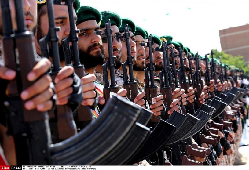 Członkowie Korpusu Strażników Rewolucji Islamskiej w Iranie. /AY-COLLECTION/SIPA/EAST NEWS /East News