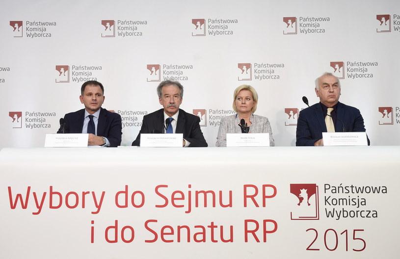 Członkowie Państwowej Komisji Wyborczej /Radek Pietruszka /PAP