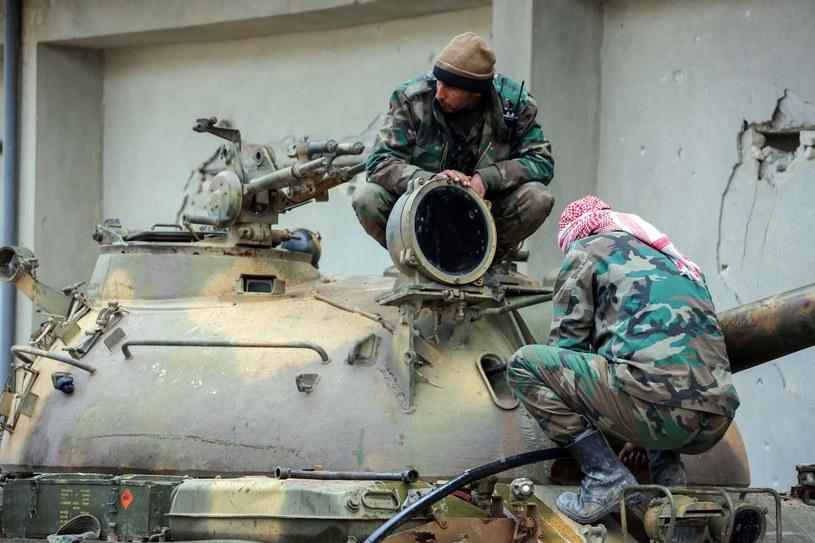 Członkowie syryjskich sił rządowych /AFP