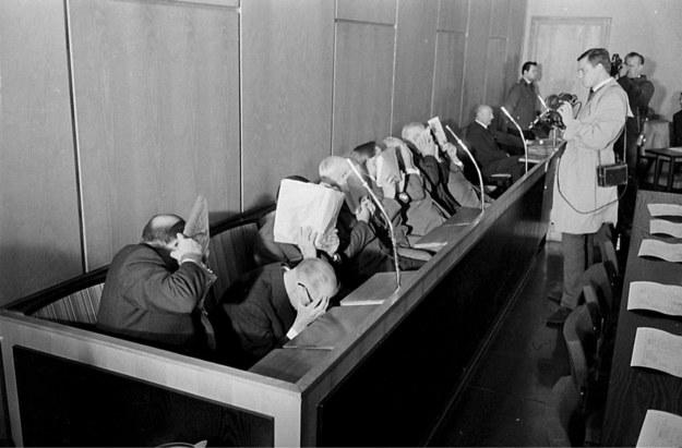 Członkowie załogi obozu zagłady w Treblince na ławie oskarżonych /Agencja FORUM