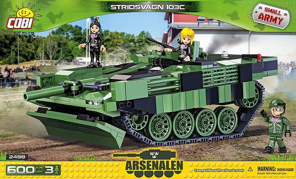 Czołg Stridvagn 103C to jeden z wielu wiernych replik stworzonych przez COBI /materiały prasowe