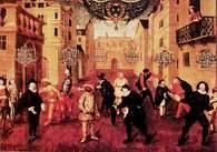 Czołowi aktorzy francuscy i włoscy XVII w. na obrazie przypisywanym Varrio, ok. 1670 r. /Encyklopedia Internautica
