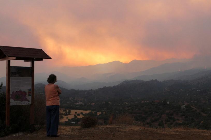 Cztery osoby zginęły w olbrzymim pożarze lasów w górach Troodos /PAP/EPA/KATIA CHRISTODOULOU /PAP