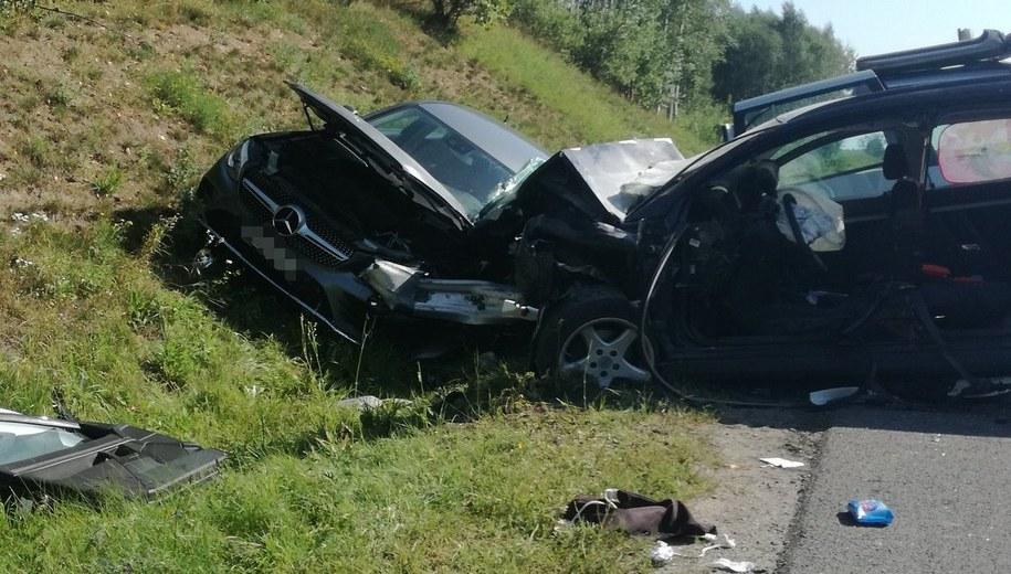 Cztery osoby zostały ranne w wypadku na drodze krajowej nr 16 w Nowym Marcinkowie /KMP w Olsztynie /Policja