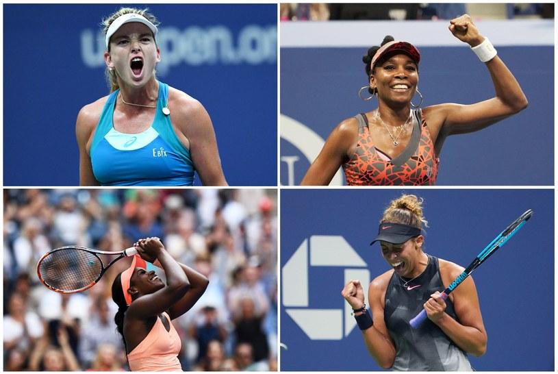 Cztery półfinalistki (od góry od lewej): CoCo Vandeweghe, Venus Williams, Sloane Stephens i Madison Keys /AFP