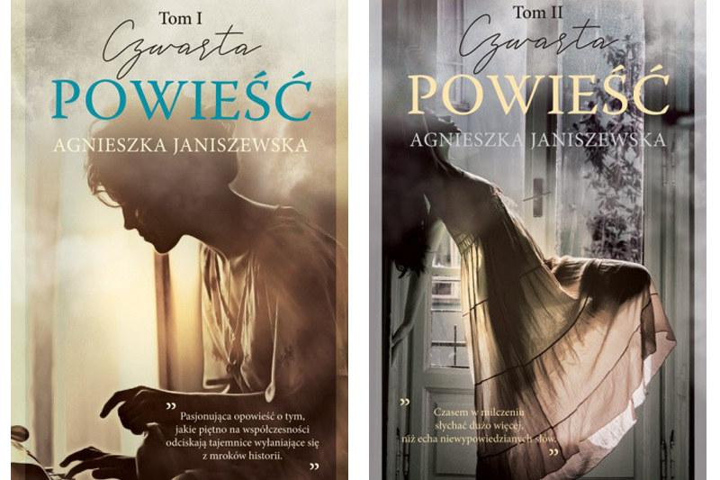 """""""Czwarta powieść"""" Agnieszki Janiszewskiej, tom I i II /materiały prasowe"""