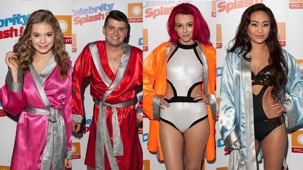 """Czwórka finalistów """"Celebrity Splash"""", ale... zwycięzca może być tylko jeden! - fot. Studio 69 /Polsat"""